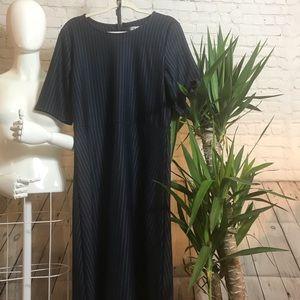 Angvns Navy Blue Pin Stripe Dress Size XXL NWT